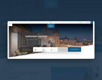 Hotel Sardinero Madrid Website