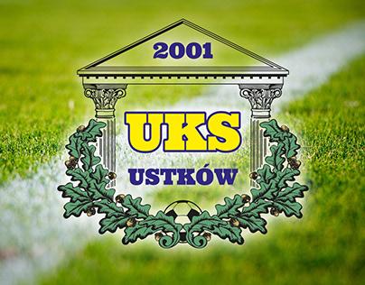 Logo design for a football club UKS Ustków from Poland