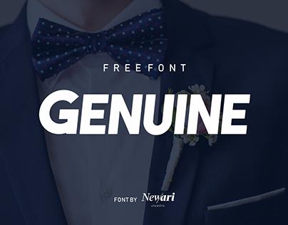 GENUINE TYPE (FREE FONT)