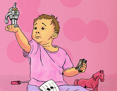 Autism Therapy Editorial Illustration