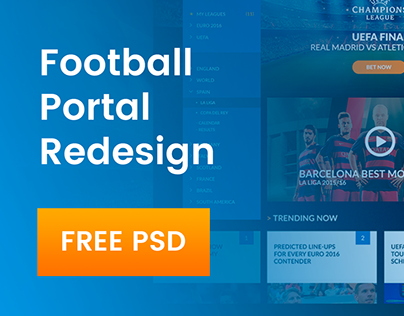Football Portal Redesign | PSD FREE
