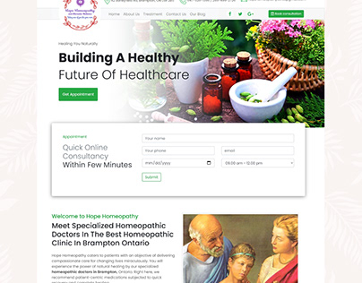 Website for India's top homeopathy Website