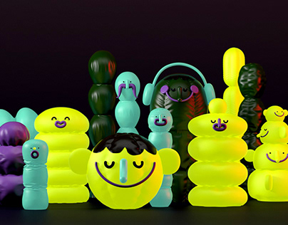 Inflatable cactuses
