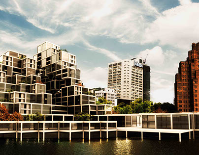 Shanghai High Density Building _ Architectural Design