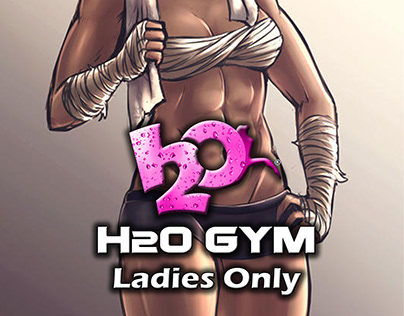 Digital painting and characters design for H2o Gym