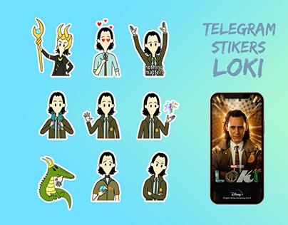 "Animated telegram stickers ""Loki"""