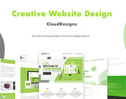 Company Website design for CloudDesigns