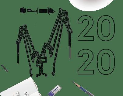 Kalendarz książkowy - żurawie stoczniowe