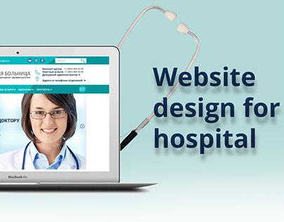 Website design for hospital