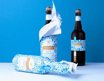 Limited Winter Edition Beer Bėganti Kopa Label Design