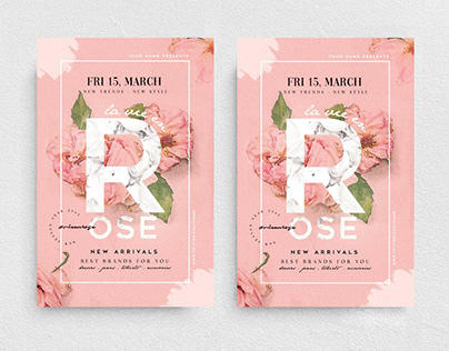 La Vie En Rose Flyer Template