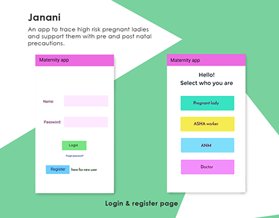 Janani- maternity app design