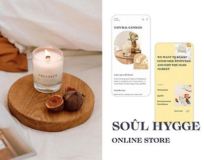 soul hygge   web-site redesign