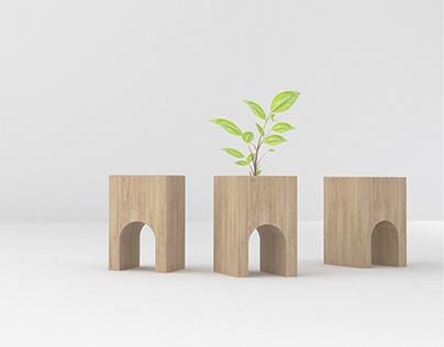 architello | un piccolo vaso in legno recuperato