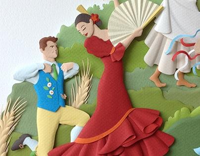 ExpoIjuí/Fenadi - Paper Sculpture