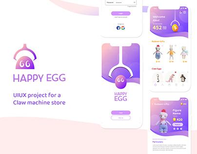 Happy Egg Claw Machine Store   UI/UX Design