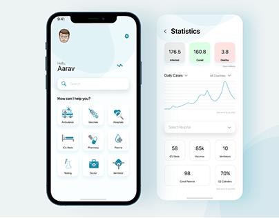 Gesundheit - Covid Support App