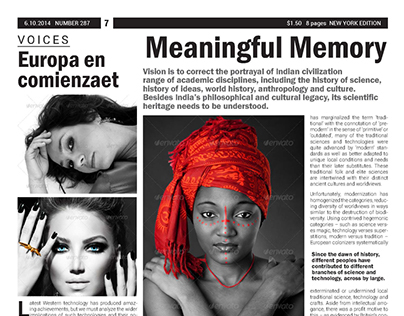 BW Newspaper Template