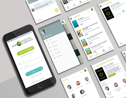 ACM UI/UX App design