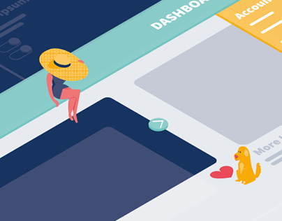 From wireframe to life - Illustrations