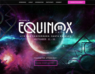Web & Branding | Outside In Equinox Wordpress Site