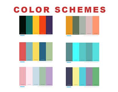 Color Schemes 7 Palettes | Coolor.co