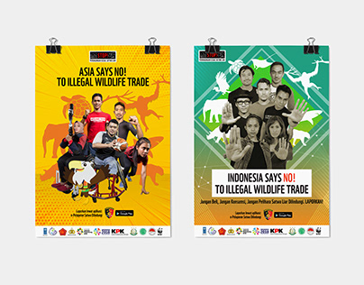 Indonesia Says NO To Illegal Wildlife Trade - Posters