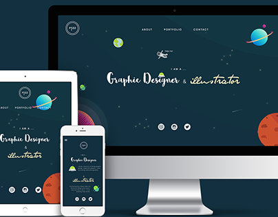 Outer Space Responsive \ Portfolio Website