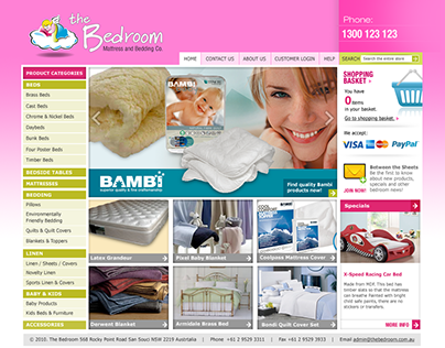 The Bedroom ECommerce Website developments