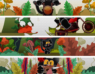 Black cat animation