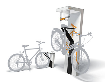 Velopunkt: Bicycle Service Point for Public Space