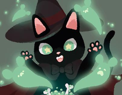 | WITCH & ALCHEMIST CAT | Illustration