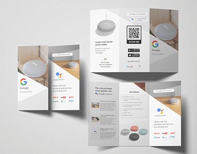 Trifold Brochure - Google Home Mini