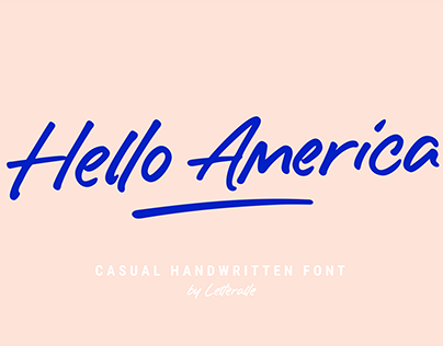 Hello America Font
