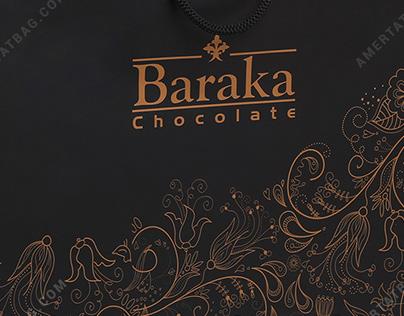ساک دستی تبلیغاتی شکلات باراکا طرح مشکیAmertatbag.com