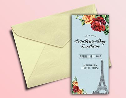 Luncheon Invitation Design