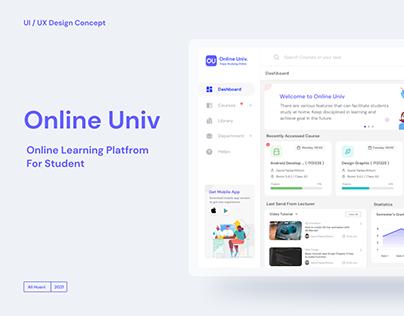 Online Univ | UI/UX Design Concept