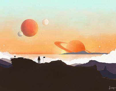 Planetary Sunset