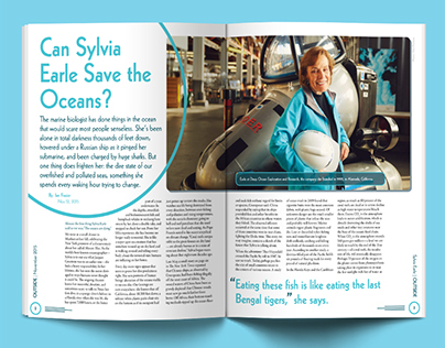 Magazine Design for Ocean Conservation