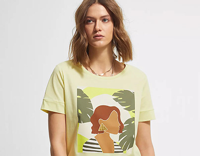 Minimalist & Foil Printed T-shirt // s.Oliver COMMA
