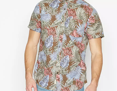 Foliage and big leaves prints for Menswear