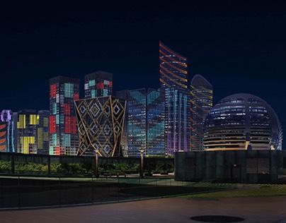 杭州钱江新城灯光系统设计