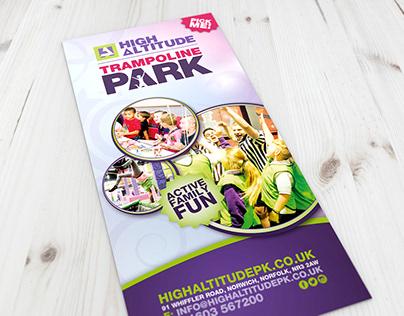 High Altitude - Trampoline Park Flyer
