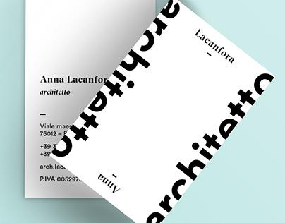 Arch. Anna Lacanfora // Business Card