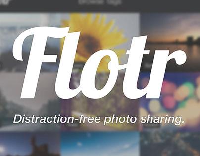 Flotr – A minimalistic photo-sharing app