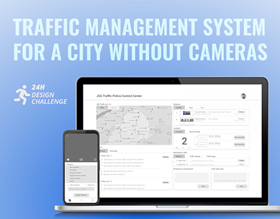 Traffic management system for a city with no cameras