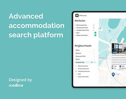 Advanced accommodation search platform for XPC