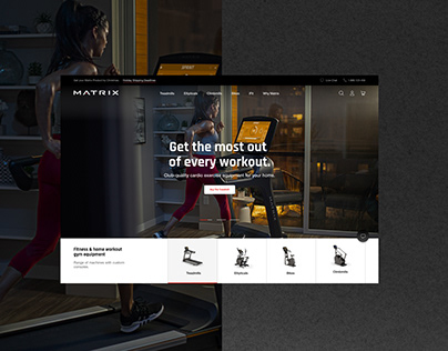 Matrix Fitness Home eCommerce website