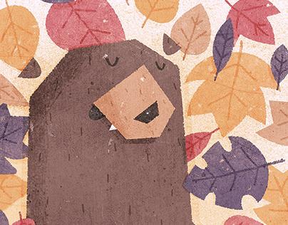 Leaf the Bear Alone He's Hibernating