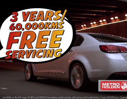 Metro Holden TVC - 3 Year Free Servicing